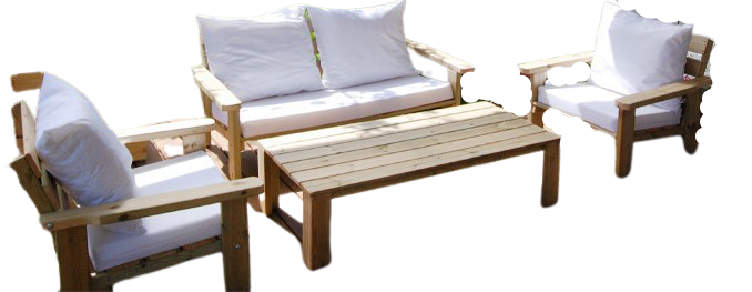 סט ישיבה מעץ